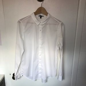 Eileen Fisher button down blouse organic small